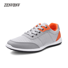 ZENVBNV Men Casual Shoes 2017 Fashion Brand Mesh Shoes High Quality Breathable Lightweight Autumn Shoes Breathable Flat shoes(China)