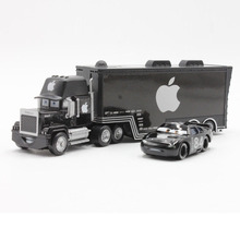 Disney Pixar Cars Black Apple Mack Uncle Truck And Small Car Metal Diecast Alloy And Plastic Toy Car 1:55 Children'S Toy Car
