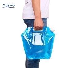 New 5L/10L Outdoor Foldable Water Bottle Bag Collapsible Drinking Water Kettle Large Container Carrier for Camping Hiking Picnic(China)