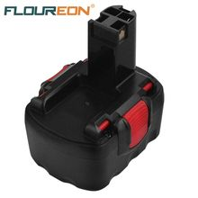 FLOUREON BAT038 14.4V 3000mAh for Bosch Drill 3660CK Ni-MH Black Power Tools Rechargeable Batteries Pack Replacement Cordless