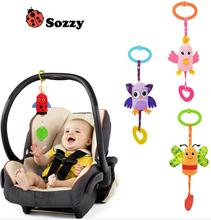 Buy Sozzy Baby Toys Rattles Toy Kids Soft Plush Teether Toy Animal Baby Crib Bed Hanging Bells Toys Stroller 40%off for $1.88 in AliExpress store