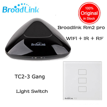 Broadlink RM2 RM Pro + Broadlink TC2 3 gang Smart Switch Home Automation WiFi Controlled IR & RF Remote Center for ios Android(China)