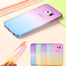 Fashion Soft TPU Gradient Color Back Cover Case For Samsung Galaxy A3 A5 S3 S4 S5 S6 S7 Edge Note 2 3 4 5 7 J3 J5 G530 S3 mini