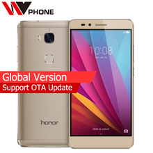 "Global Version Original HuaWei Honor 5X 2GB Ram 16GB Rom 4G LTE Mobile Phone Octa Core 5.5"" FHD 1080P 13.0MP Fingerprint(China)"