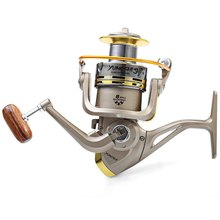 Ultra-thin GS1000 - 7000 Fishing Reel 8 Ball Bearings 5.2 : 1 Fishing Spinning Reel Foldable Exchangable Reel Handle For Fishing