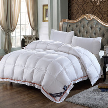 Top Grade Duck Down Comforter Thickened Warm Winter Autumn 100% White Duck Down Quilt Blanket Size Queen Adult Home Hotel Use