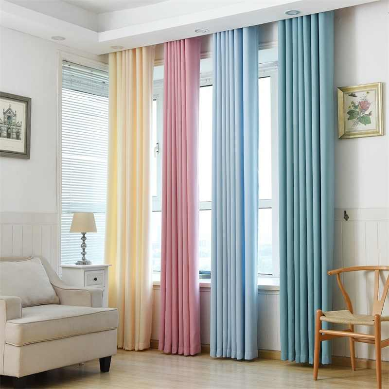 Modern Blackout Curtains For Living Room Window Curtains For Bedroom Curtains Fabrics Ready Made Finished Drapes Blinds Tend #4