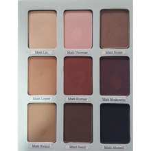 New 9 Artist Shadow Palette Shimmer Matte Pigment Earth Color Eye Shadow Kit Naked Makeup Smooth Glitter Eyeshadow