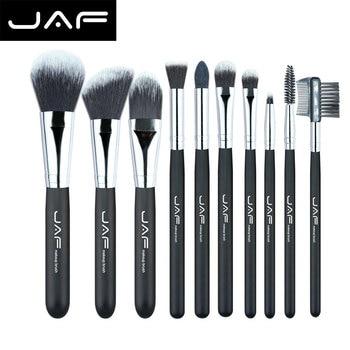JAF Moda 10 unidades Fibra Taklon sistema de Cepillo Profesional del Maquillaje Cosmético Compone cepillos Kit de Herramientas J10NNS