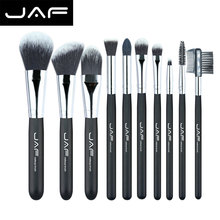 JAF Fashionable 10 pieces Cosmetic Makeup Brush set Professional Soft Taklon Fiber Make Up brushes Tool Kit J10NNS(China)