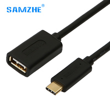 Samzhe usb type c/usb 3.1 To USB 2.0 type-c OTG Cable adapter for samsung xiaomi mi5 phone Tablet Pc to U disk Mouse Keyboard(China)