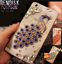 Beautiful Peacock Diamond Rhinestone Crystal Back case cover For Samsung Galaxy J2 2015 J200 Crystal cases