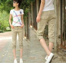 2015 casual capris female mid waist plus size capris lovers pants cheap clothes china women selling Sexy fashion Discount