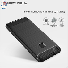 KRY Phone Cases For HUAWEI P10 Lite Case Carbon Fiber Anti knock Soft Plastic Cover For HUAWEI P10 Lite Case Capa Coque(China)