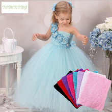 Hight quality Tulle Spool Tutu Crochet Chest Wrap Tube Tops Apparel Sewing Knit Fabric Girl Birthday Gifts Headbands Skirt