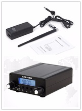 LCD Display PLL 76MHz~108MHz FM Long Range 0.5W FM Stereo Broadcast Home Transmitter + Antenna + Power Adapter