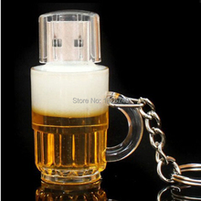 FGHGF fashion USB creative beer mug USB 2.0 USB Flash Drive pendrive 4GB 8GB 16GB 32GB memory stick gift Free shipping(China)