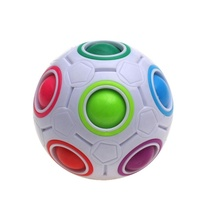 Fun Creative Spherical Ball Cube Speed Colorful Ball Football Puzzles Kids Educational Learning Toys for Children Adult Gift