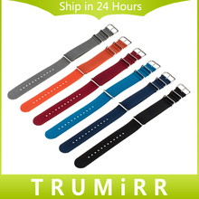 Nylon Watchband 18mm 20mm 22mm Universal NATO Watch Band Waterproof Strap Sport Wrist Bracelet Black Blue Grey Orange Red + Tool(China)