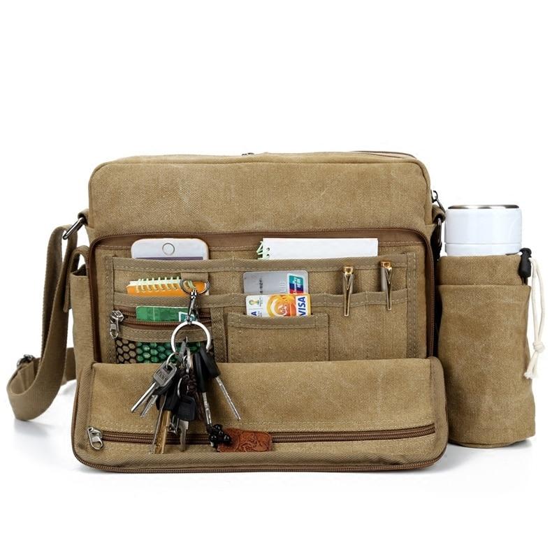 New Fashion High Quality brand Multifunction Men Canvas Bag Cotton Casual Travel Bolsa Masculina Mens Crossbody Messenger Bags<br><br>Aliexpress