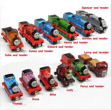 20PCS/LOT Diecast Metal Thomas and Friends Train The Tank Engine Trackmaster Toys For Children Kids Thomas Spencer James Lady(China)