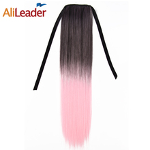AliLeader Synthetic Hair Clip in Hair Extension Hairpiece High Temperature Heat Resistant Long Ponytail For Women Hair 80G/Pcs(China)