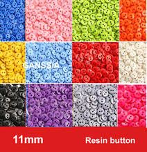 100pcs/lot 11mm 14colors sewing button Bulk buttons Sewing accessories Resin Buttons wholesale(SS-671)(China)