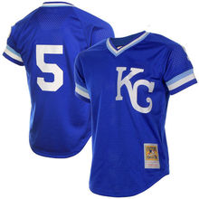 Homens MLB KANSAS CITY ROYALS BO JACKSON George Brett Jerseys(China)