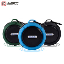 Magift Waterproof Bluetooth Wireless Speaker Support TF Card with Suction Cup Portable Outdoor Bluetooth Column Bicycle Speaker(China)