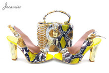 Jocamier! Nice Looking African Shoes And Bag Set Women Wedding Shoes Dress Pumps High Quality Shoes And Bag To Match.TS1