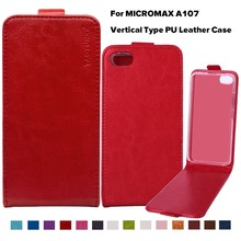 Protective PU Leather Flip Case Phone Case Cover For Micromax Canvas Fire 4 A107 4.5 inch Holster Bags Hood Housing Shell