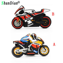 SHANDIAN wholesale price pendrives 32gb motorcycle design fashion rubber USB flash drive 8gb pen drive 16gb usb creativo GIFTS(China)
