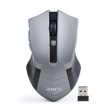 Optical Wireless Mouse Computer Mouse USB 2.4G Receiver 6 Buttons Gamer Mouse Ergonomic Design 10M Working Range Laptop Desktop(China)