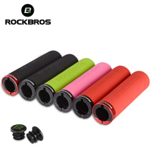 ROCKBROS Bicycle Grips Ultralight Cycling MTB Bike Silicone/Sponge Material Handlebar Anti-skid Shock-absorbing Bicycle Part(China)