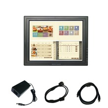 new 15 inch 4:3 1024*768   4-wire usb Resistive touchscreen monitor for POS Desktop warranty 1 year  Without Stand
