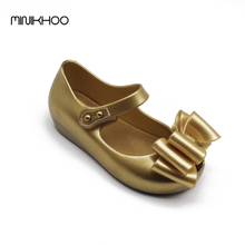 Mini Melissa Princess Sandals Jelly Girls Sandals Shoes Three Big Bows Baby Melissa Girl Toddler Girl Sandals High Quality