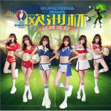 free shipping US European Cup football Cheer baby cheerleader costume sexy pour femme danseuse sex products dance vikings jersey(China)