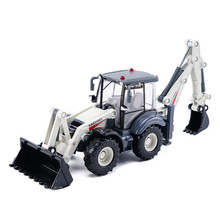 Scale 1:50 Two-way Forklift KAIDIWEI Toys Model Car Alloy & Diecast Metal Back Hoe Loader Truck Toy Excavator Boys Juguetes