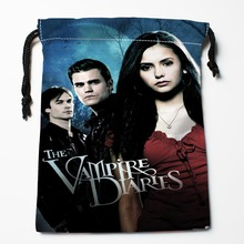 Best The Vampire Diaries Drawstring Bags Custom Storage Printed Receive Bag Type Bags Size 18X22cm Storage Bags