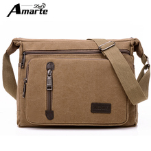 Men Bags Vinatge Canvas Messenger Bags 2017 Designer Brand Men's Fashion Crossbody Shoulder Bag Solid Male Casual Travel Bag(China)