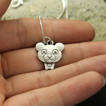 1pcs wholesale Cartoon Teddy Bear Necklace pendants for women necklace Animal jewelry Simple Summer necklaces gift for friend