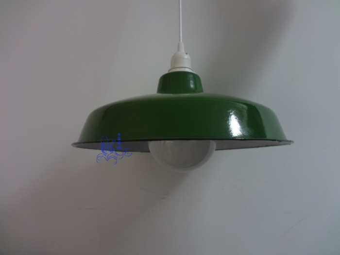 Simple Pendant Lights green shade enamel  bar light cafe  antique Pendant lamps 30s light ZCL<br>