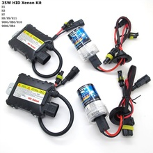 35W Slim Ballast HID Kit H1 H3 H7 H11 9005 9006 4300K 5000K 6000K 8000K 10000K 12000K Car Auto HID Xenon Headlight 12V(China)