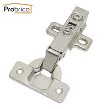Probrico 1 PCS Soft Close Kitchen Cabinet Hinge Full Overlay Concealed Hydraulic Furniture Cupboard Door Hinge CHR093HA(China)