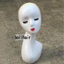 Useful Long Type Women Female Mannequin Head Model Wig Hat Glasses Jewelry Display Mannequin Head Without Ears(China)