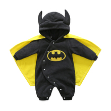 Baby Clothing Bat Rompers Newborn Body Suit Kids Clothes Boy Girl Jumpsuit Romper Hooded Warm Cotton Infant Overall Costume - Mami & Club Store store