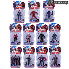 Marvel Avengers Black Panther Black Widow Captain America Scarlet Hawkeye Iron Man War Machine Winter Soldier Ant-Man Figure 18c(China)