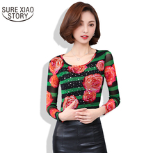 2017 New Arrival Hot Sale Spring and Fall Fashion Women T-shirt Female Plus Size Long Sleeve Casual Slim Slim Tops 81A 30(China)