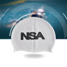 NSA New waterproof silicon swimming cap swim caps professional hat for long hair ear band touca de banho men swimmer hats
