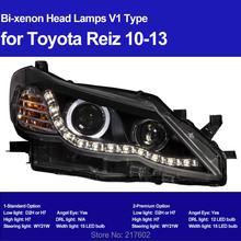 for Toyota Vertiga Mark X 2 Reiz bi-xenon Projector Head lights 2010-2013 with LED Angel Eye light  & DRL Light V2 type